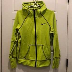 Lime Green Thermal Zip Up